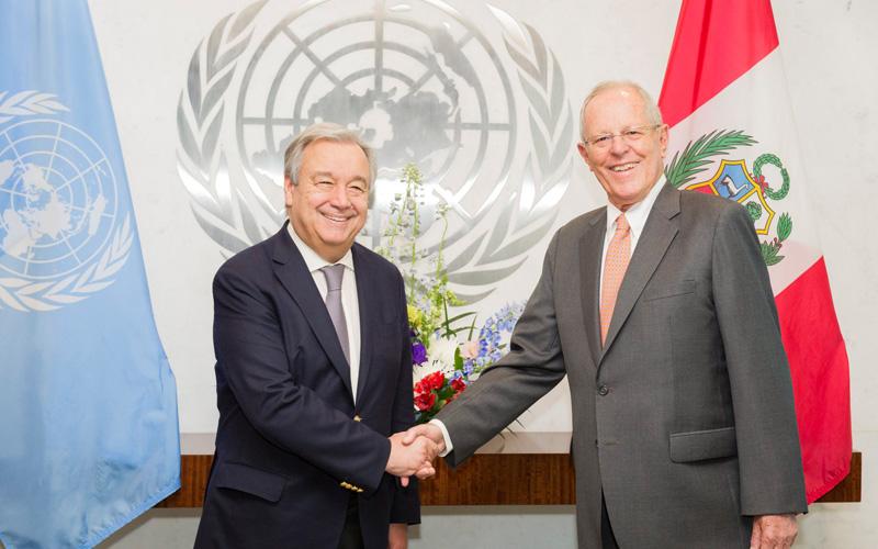 Presidente de la República se reúne con el nuevo Secretario General de Naciones Unidas