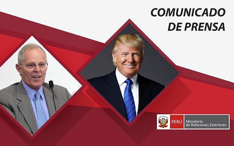 Jefe de Estado peruano sostuvo charla telefónica con Presidente de los Estados Unidos de América