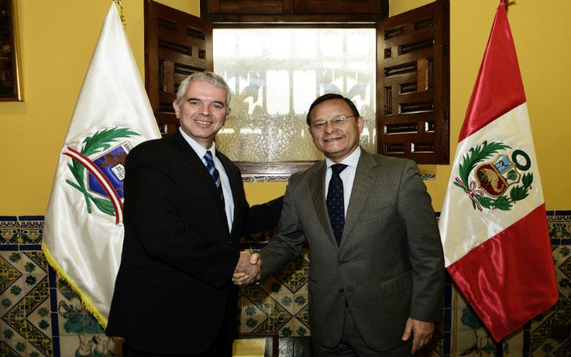 Reunión del Viceministro de Relaciones Exteriores con el Director General para América Latina de Israel