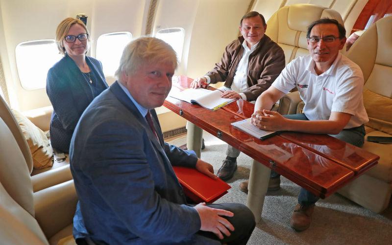 Secretario de Estado de Asuntos Exteriores del Reino Unido, Boris Johnson, finaliza visita oficial al Perú