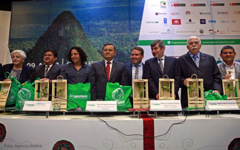 Canciller Popolizio participa en el lanzamiento de la VIII Edición de la Feria Expo Amazónica Ucayali 2018