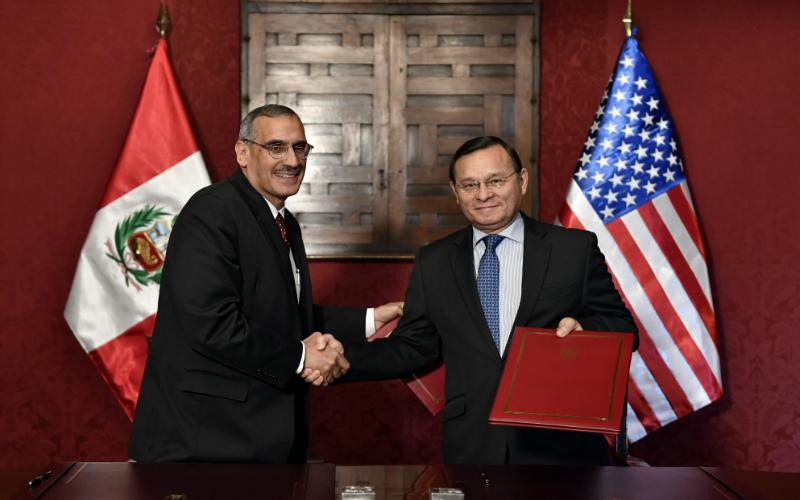 Perú y Estados Unidos de América suscriben Memorándum de Entendimiento sobre intercambio de información para la detección de terroristas