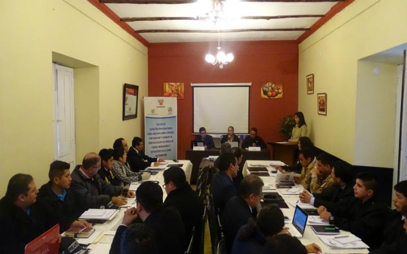 Perú y Bolivia fortalecen acciones para prevenir y combatir el tráfico ilícito de armas, municiones y explosivos en la zona de frontera