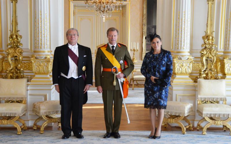 Presentación de Cartas Credenciales del Embajador Gonzalo Gutiérrez ante el Gran Duque de Luxemburgo