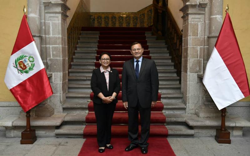 Canciller de Indonesia realiza primera visita al Perú