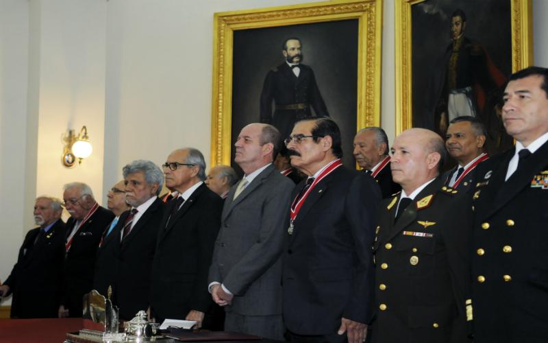 Benemérita Sociedad Fundadores de la Independencia rinde homenaje al Servicio Diplomático del Perú