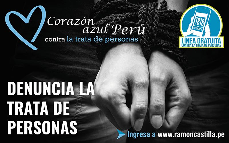"""Cancillería participa en actividades de la campaña """"Corazón Azul"""" contra la trata de personas"""